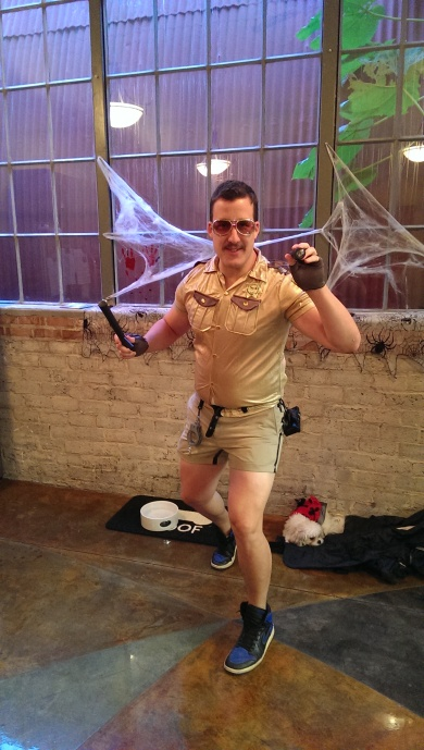 Lt.Dangle came by to make some arrests in his Shorty Shorts at SSG's Halloween Costume Contest 2013!