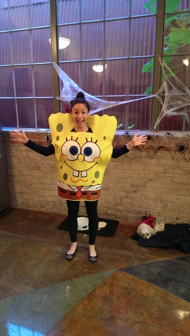 Spongebob Squarepants joined Patrick Star at SSG's Halloween Costume Contest 2013!